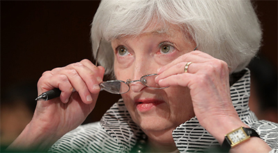 Graycell Advisors - Federal Reserve Chairperson Janet Yellen - Monetary Policy ~ Photographer: Chip Somodevilla
